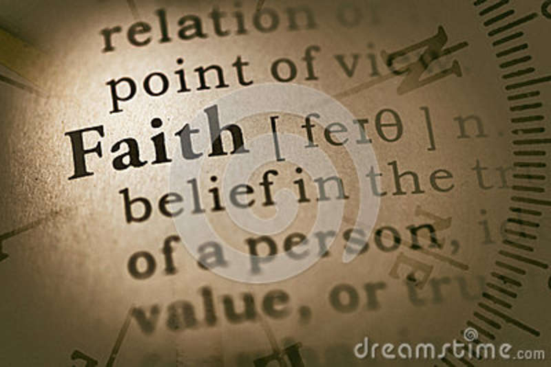 Word faith and compass stock image  Image of information