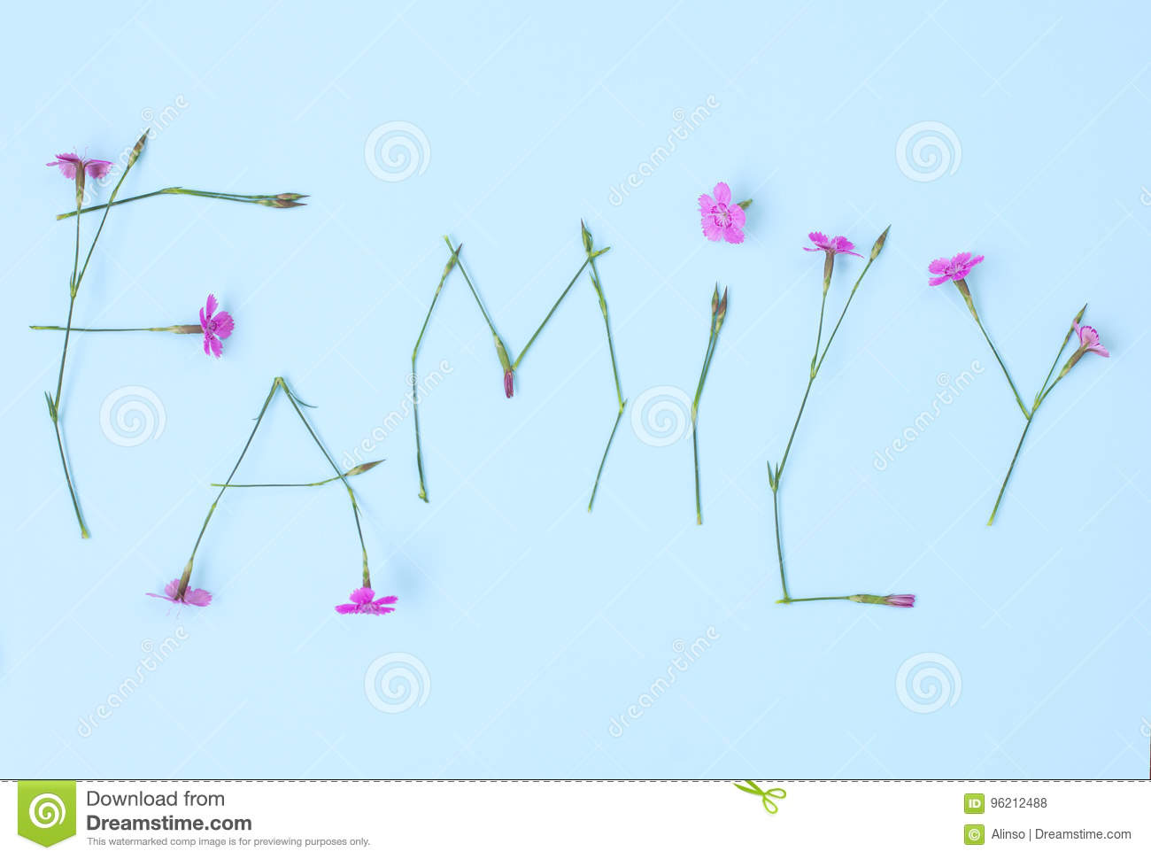 Word family written with carnation flowers stock photo image of download word family written with carnation flowers stock photo image of capital concept ccuart Gallery