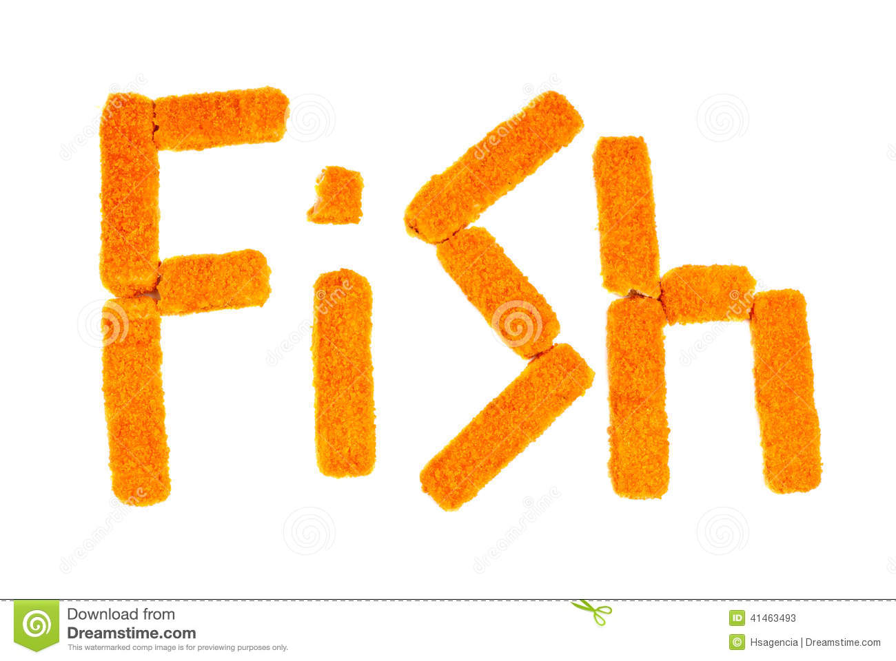 Word fish crafted from fish sticks stock photo image for Is fishes a word