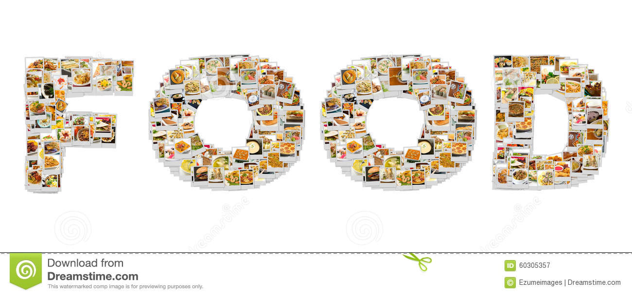 Word Food Collage stock image. Image of recipes, cuisine ...