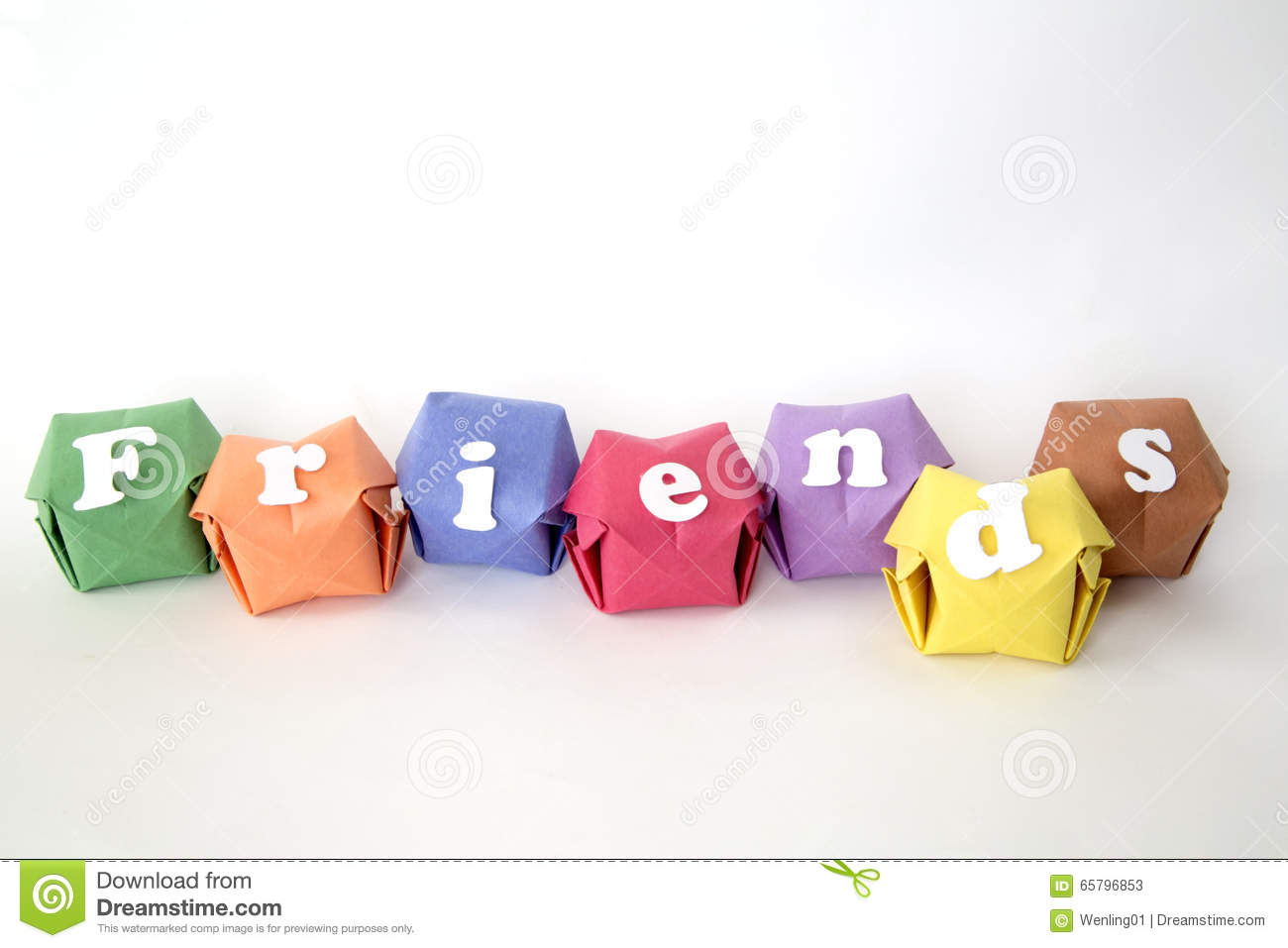 The Word FRIENDS Stock Photo - Image: 49738665