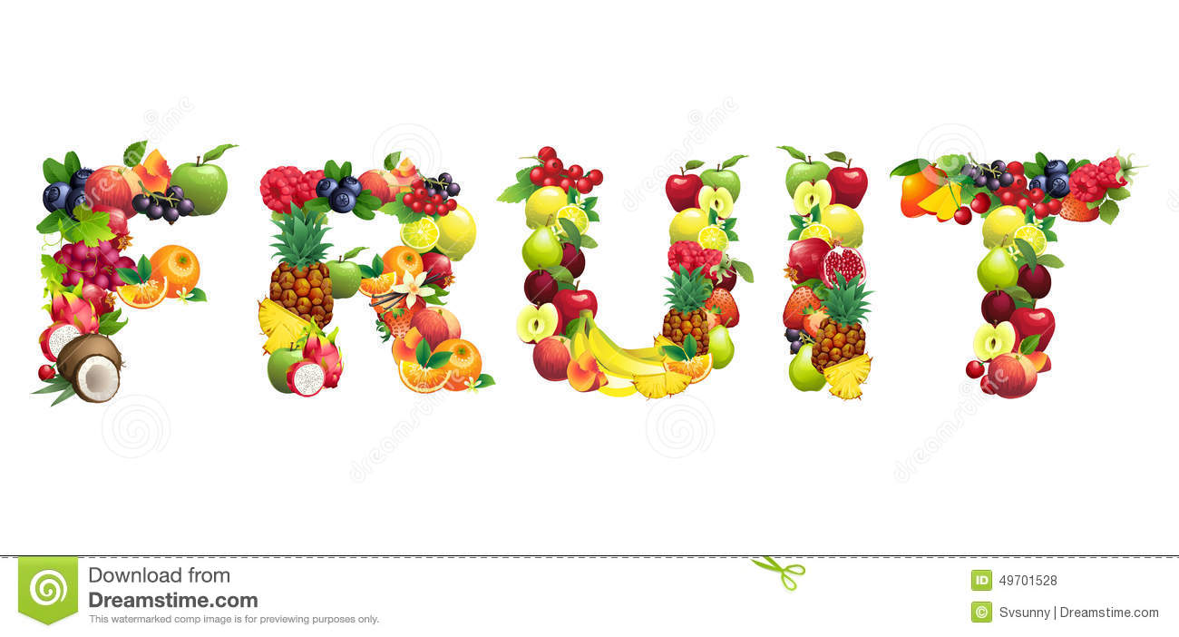 Letter Word Out Of Fruits