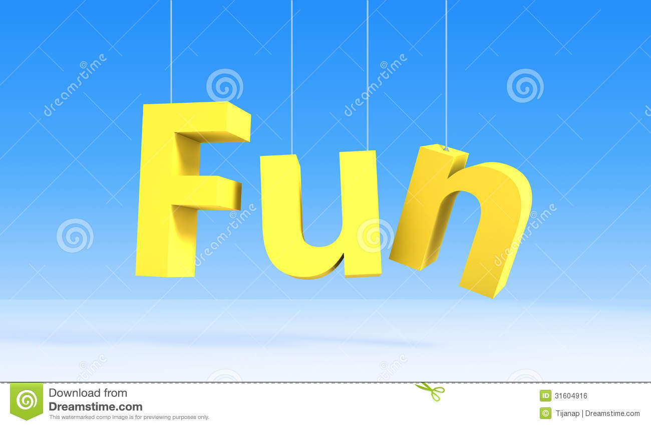 word fun on blue background royalty free stock image