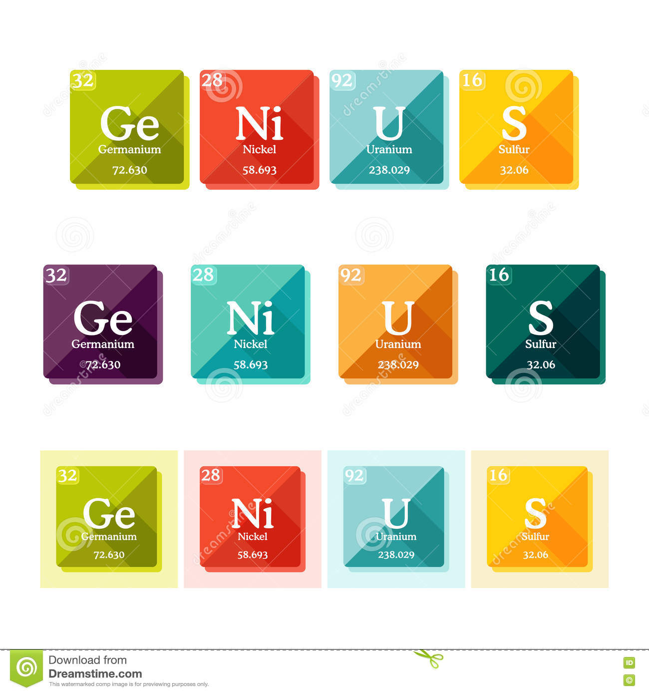 Periodic table word images periodic table images word genius formed of the elements of periodic table stock vector word genius formed of the gamestrikefo Choice Image