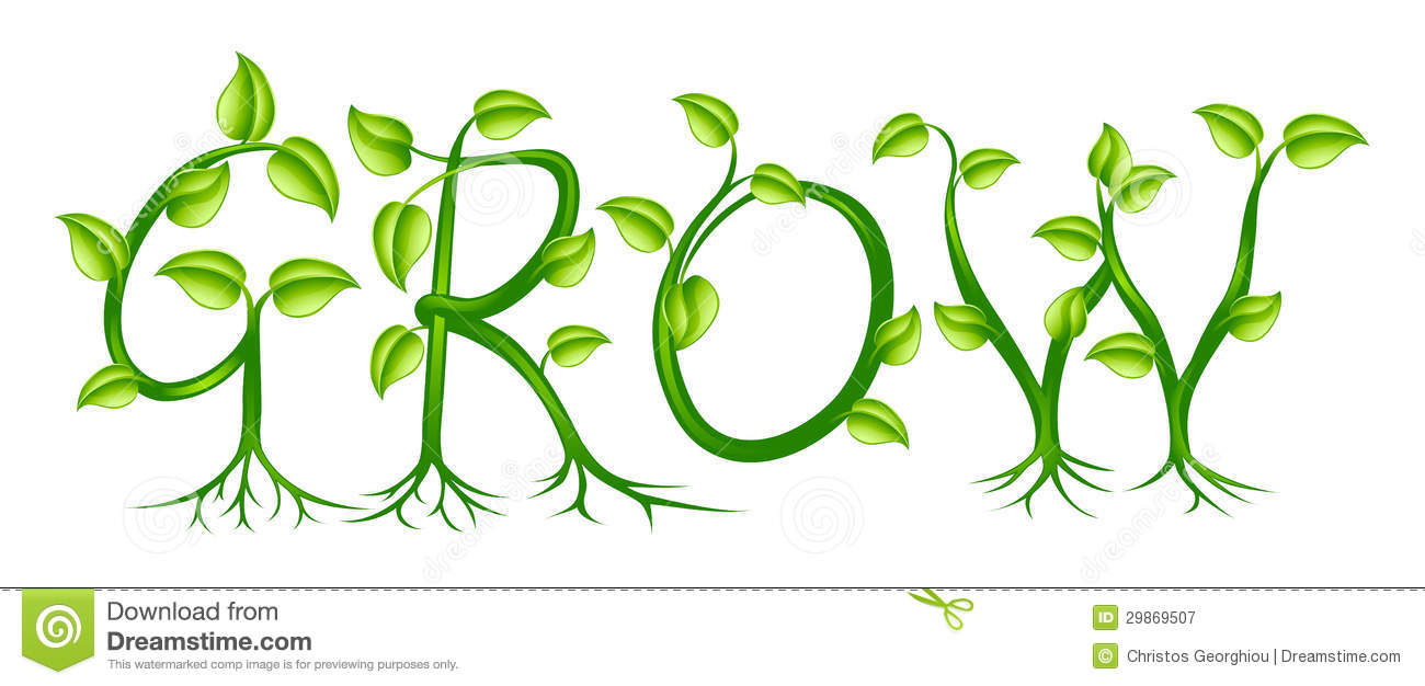 Grow Concept Stock Vector Illustration Of Artwork Letters 29869507