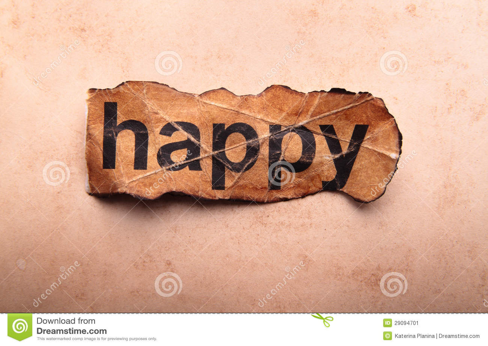 word happy  motivation stock image