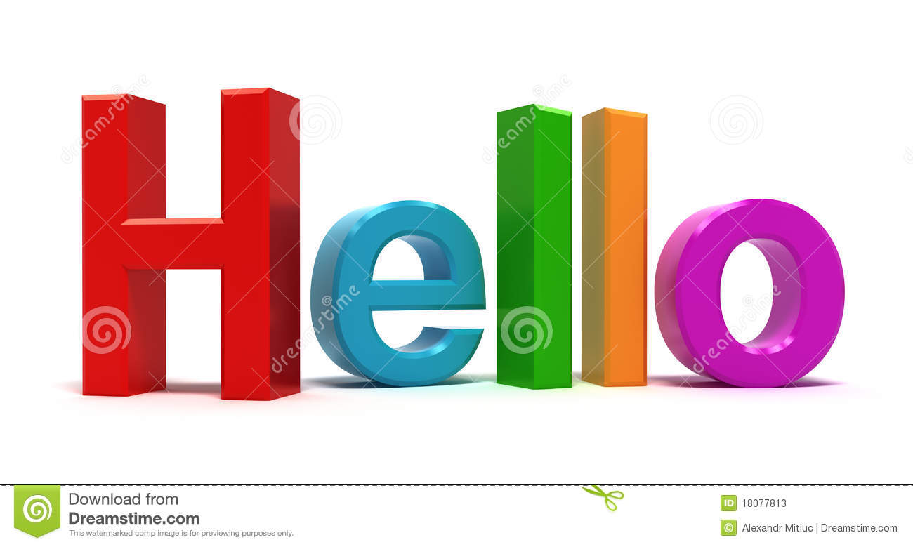 Word Hello Multicolor Stock Photos - Image: 18077813