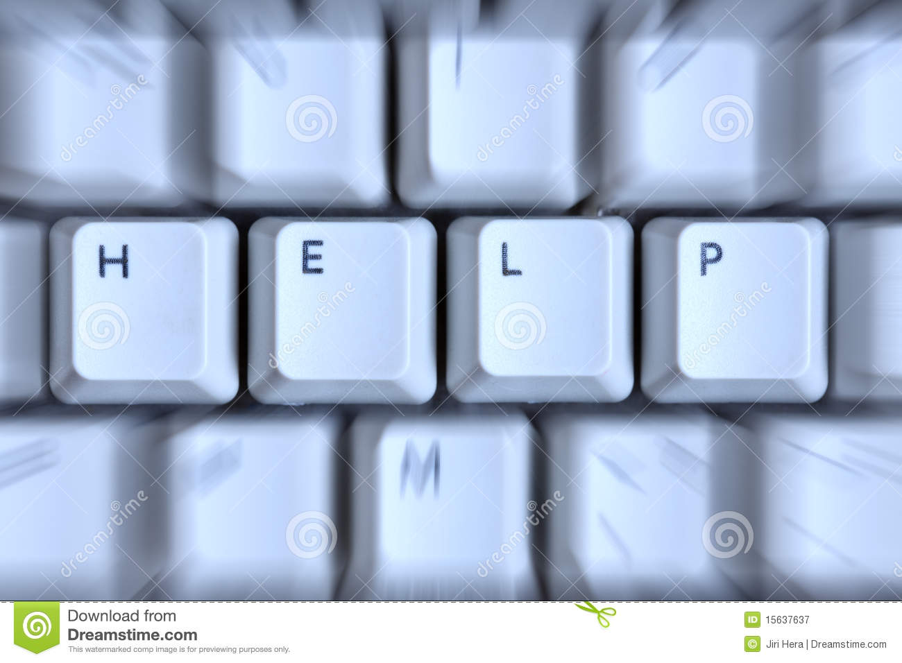 Download Word Help Zoomed In Computer Keyboard Stock Image - Image of notebook, keypad: 15637637