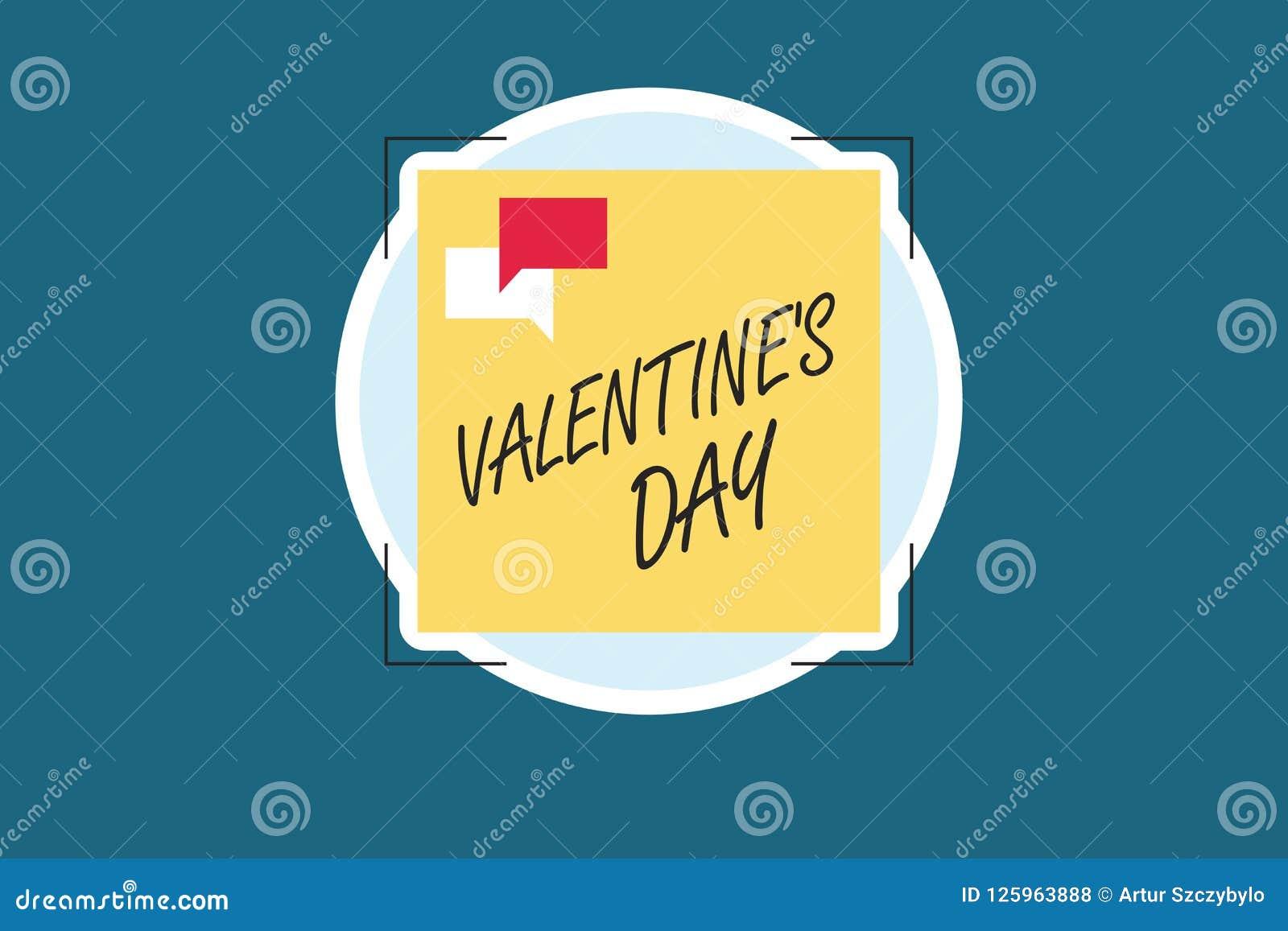 Word het schrijven de tekst Valentine s is Dag Bedrijfsconcept voor tijd wanneer de mensen gevoel van liefde en affectie tonen