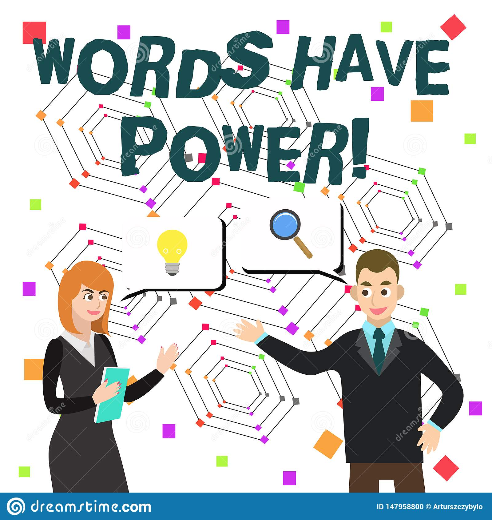 Word het schrijven de tekstwoorden hebben Macht Het bedrijfsconcept voor aangezien zij capaciteit hebben helpen helen kwetste of