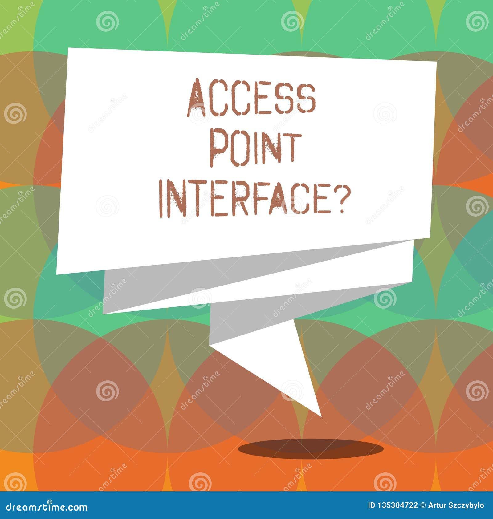 Word het schrijven het Punt Interfacequestion van de teksttoegang Het bedrijfsconcept voor Allow draadloos apparaat om met een ne