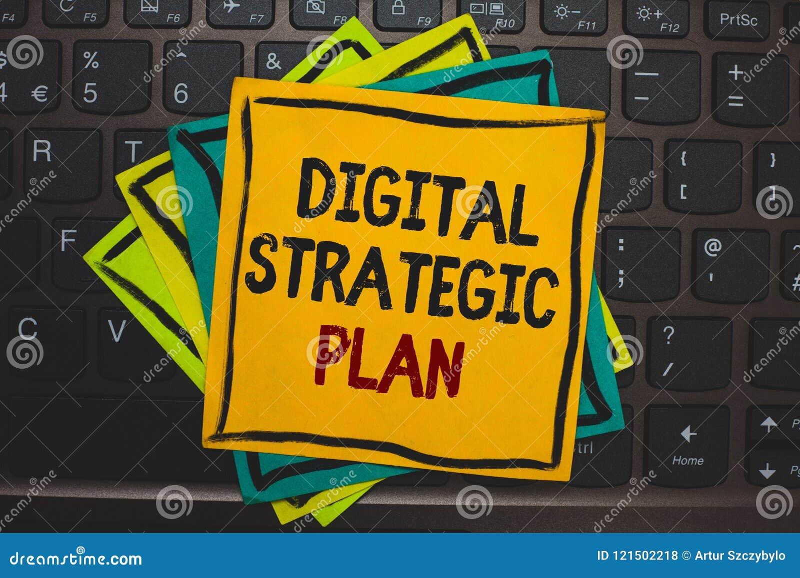 Word het schrijven tekst Digitaal Strategisch Plan Het bedrijfsconcept voor leidt tot programma voor de marketing van product of