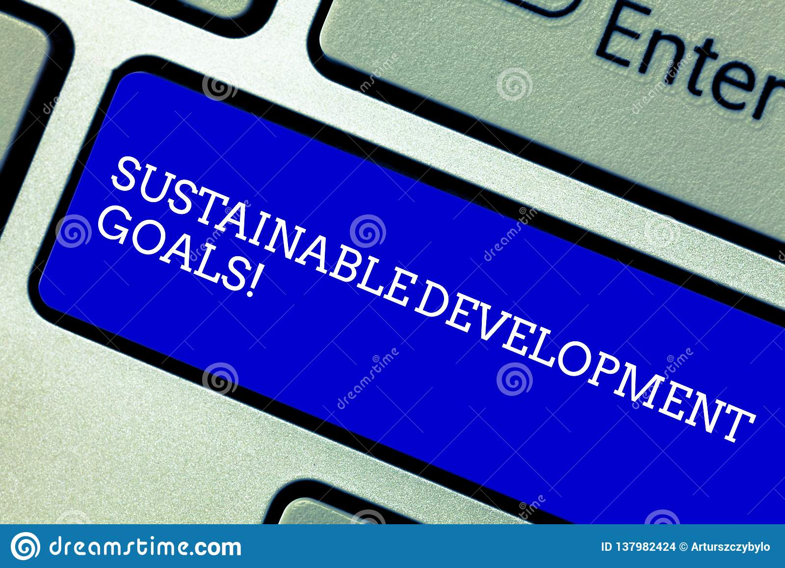 Word het schrijven tekst Duurzame Ontwikkelingsdoelstellingen Bedrijfsconcept voor Unite Naties Globale visie voor huanalysisity