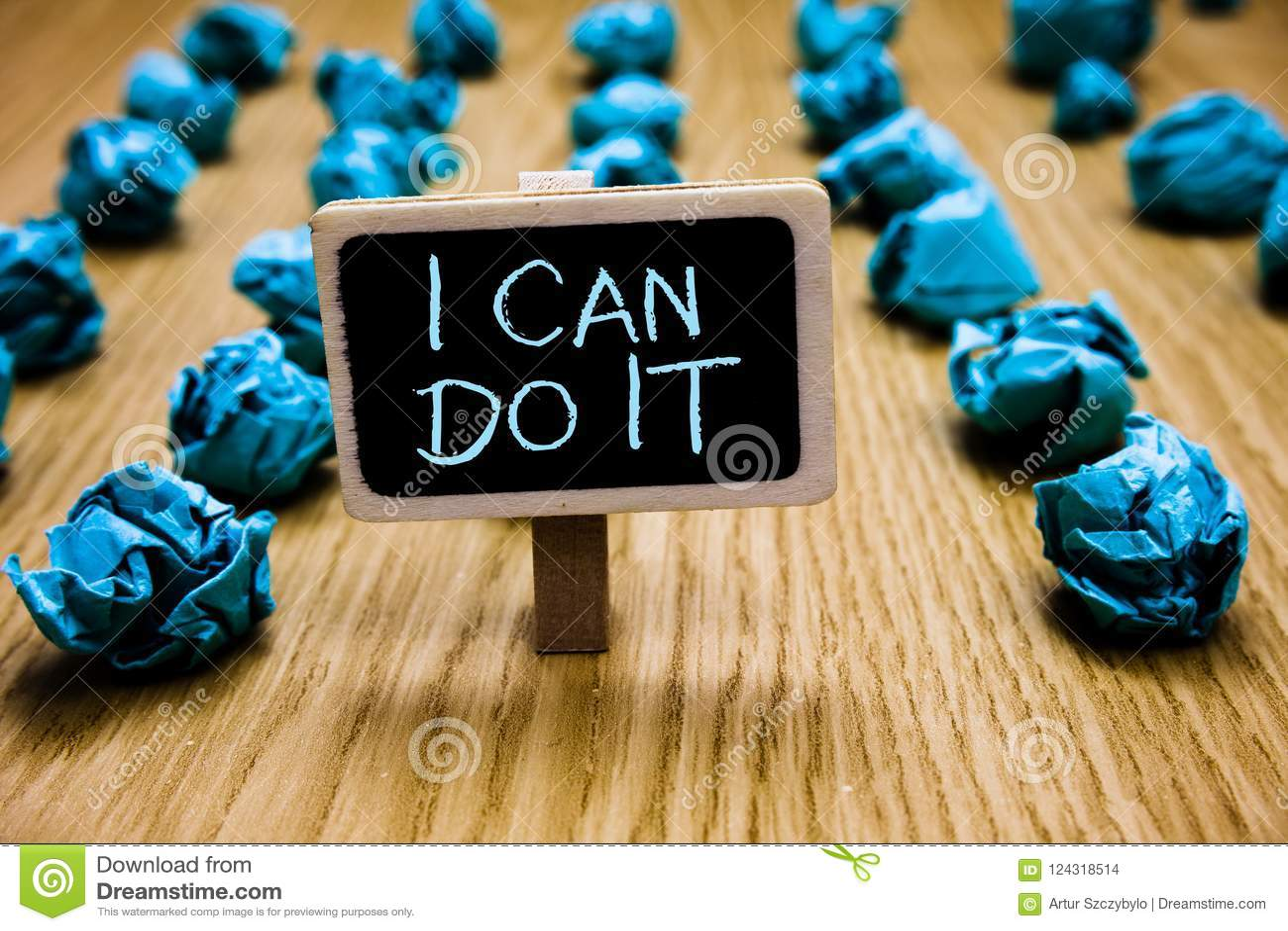 Word het schrijven tekst kan ik het doen Bedrijfsconcept voor ager bereidheid om Bord van de uitdagingen het goede houding goed t