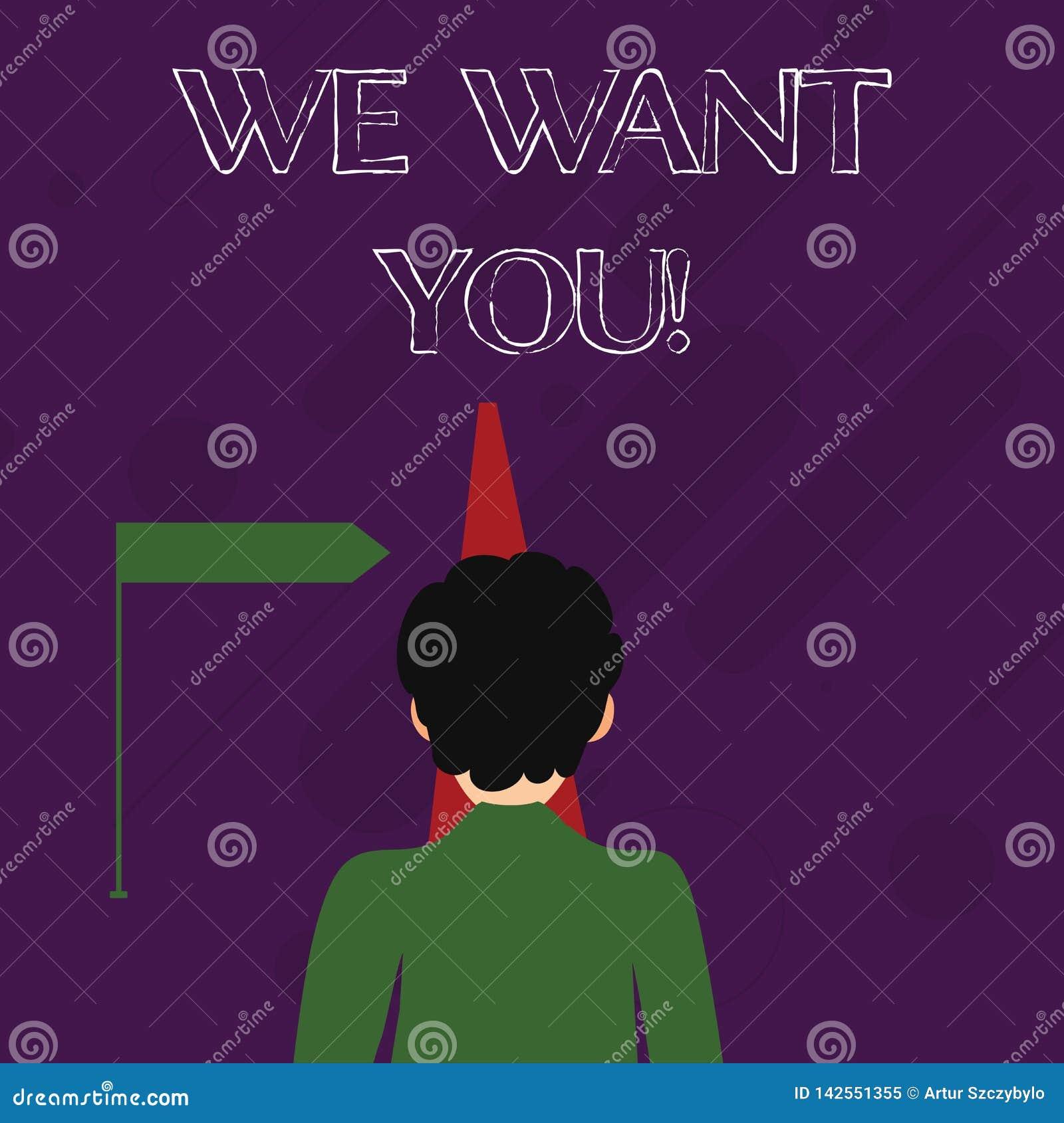 Word het schrijven tekst willen wij u Bedrijfsconcept voor Rekrutering die van Werknemers de Hulp Gewilde Arbeiders de Werkgelege