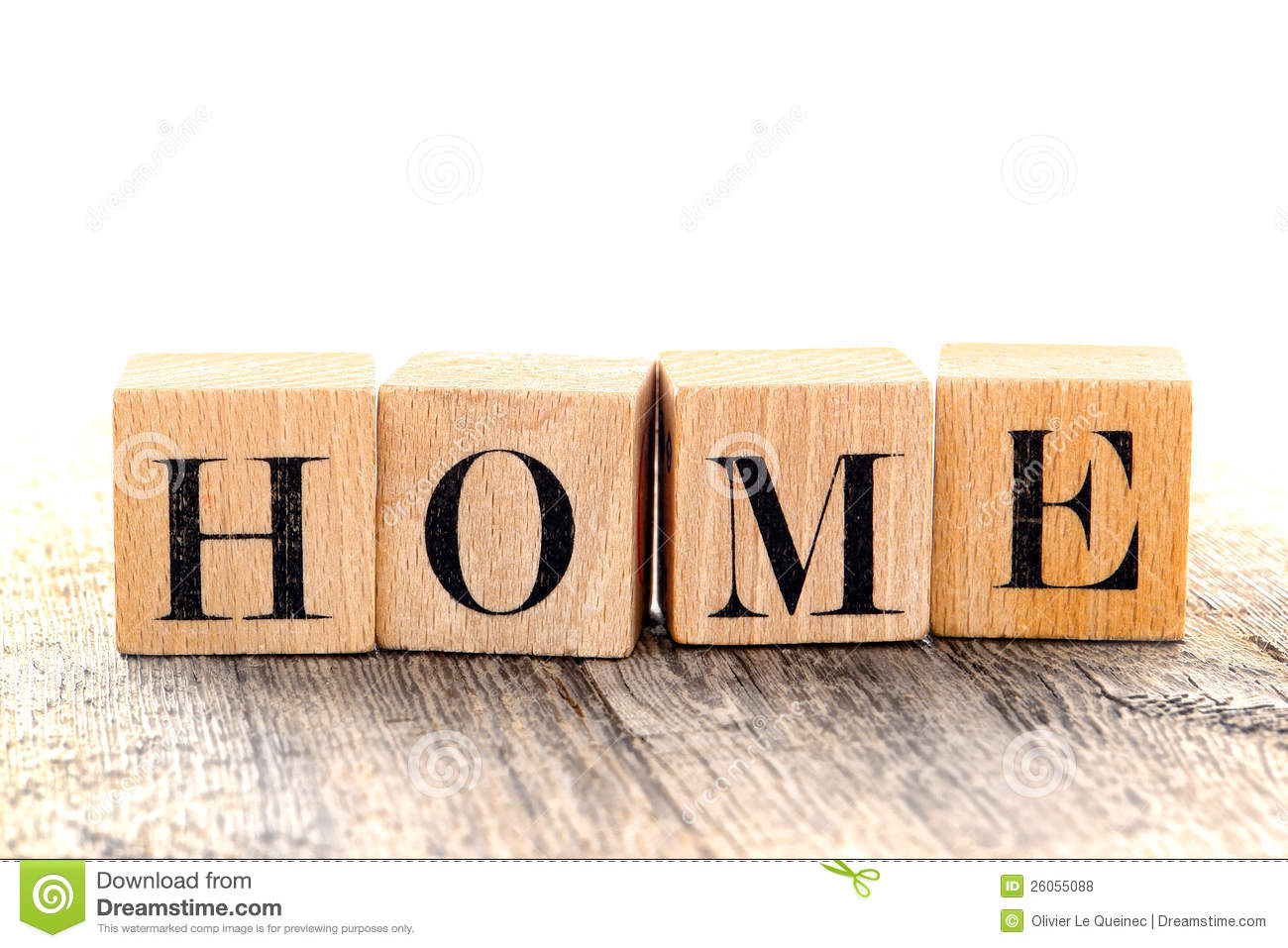 word home spelled in vintage alphabet block letter royalty free stock photos