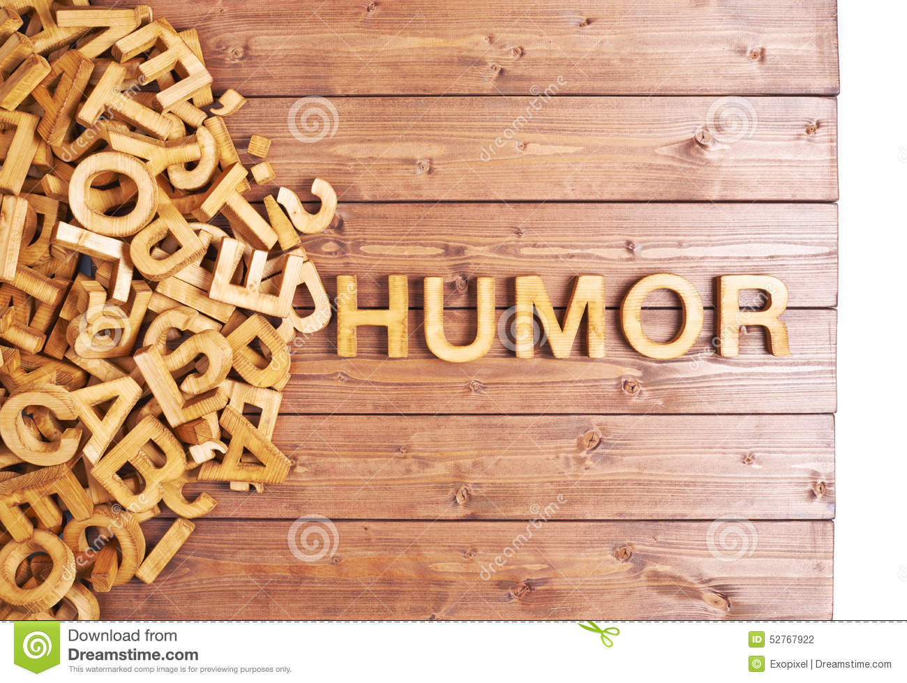 Word Humor Made With Wooden Letters Stock Photo - Image of ...