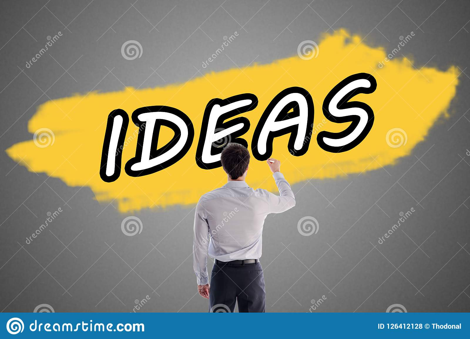 Word Ideas Written On A Wall Stock Photo - Image of creative ...