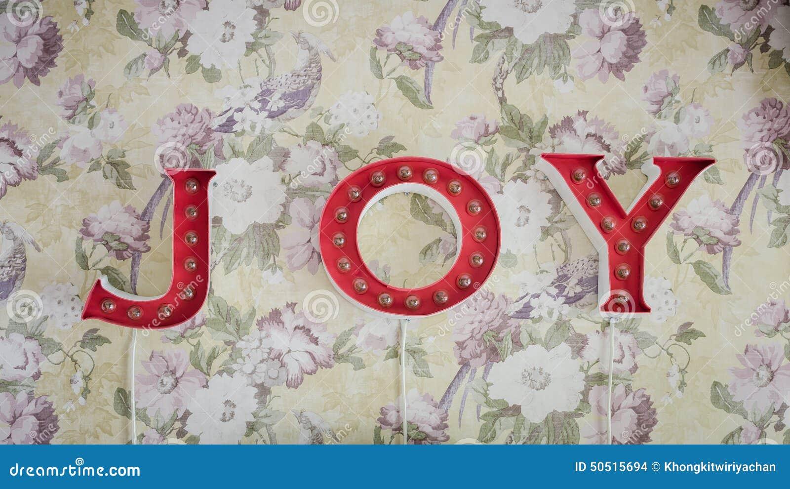 word joy hang on wallpaper stock photo. image of symbol - 50515694