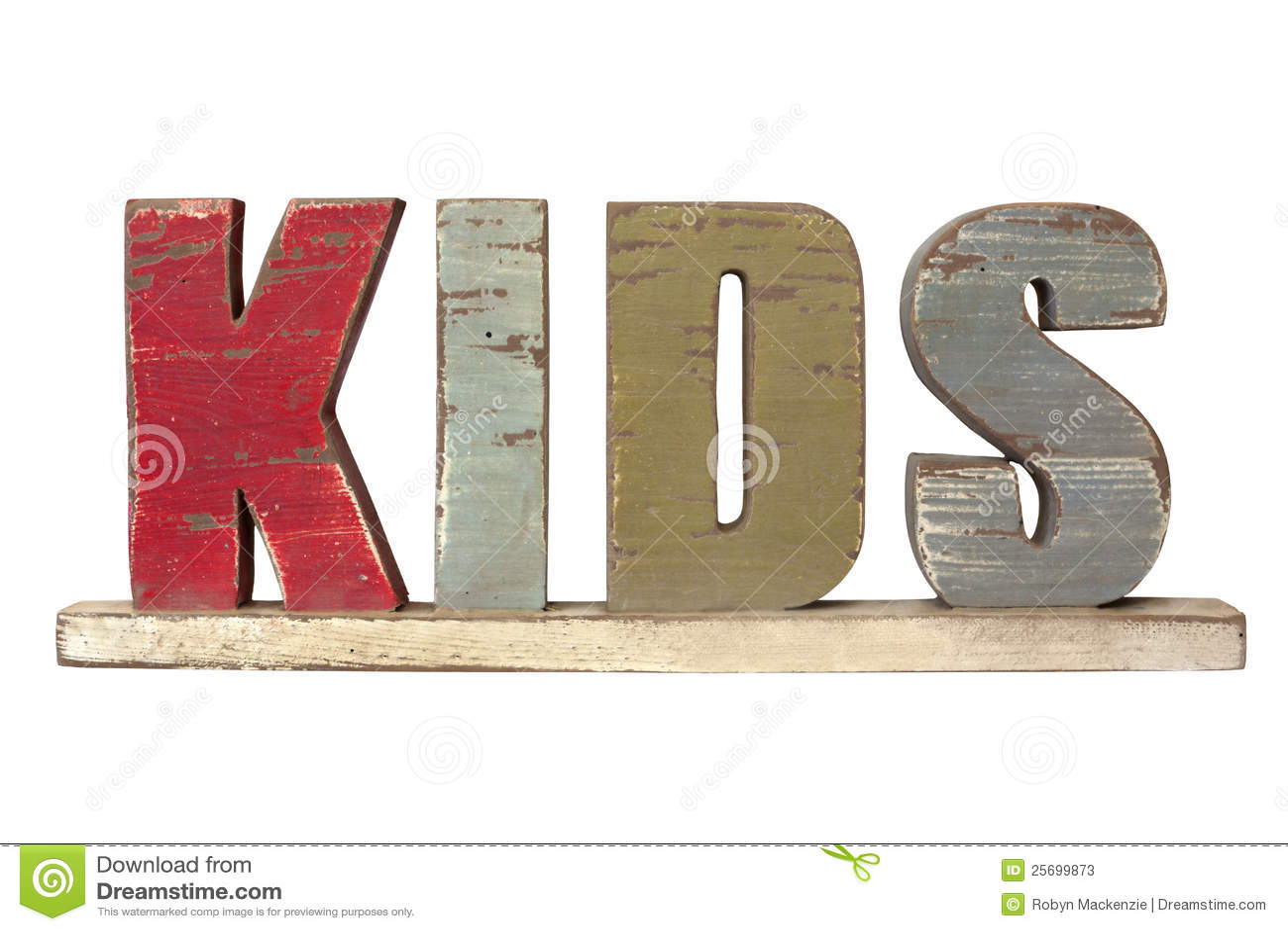 word kids spelled wooden letters 25699873