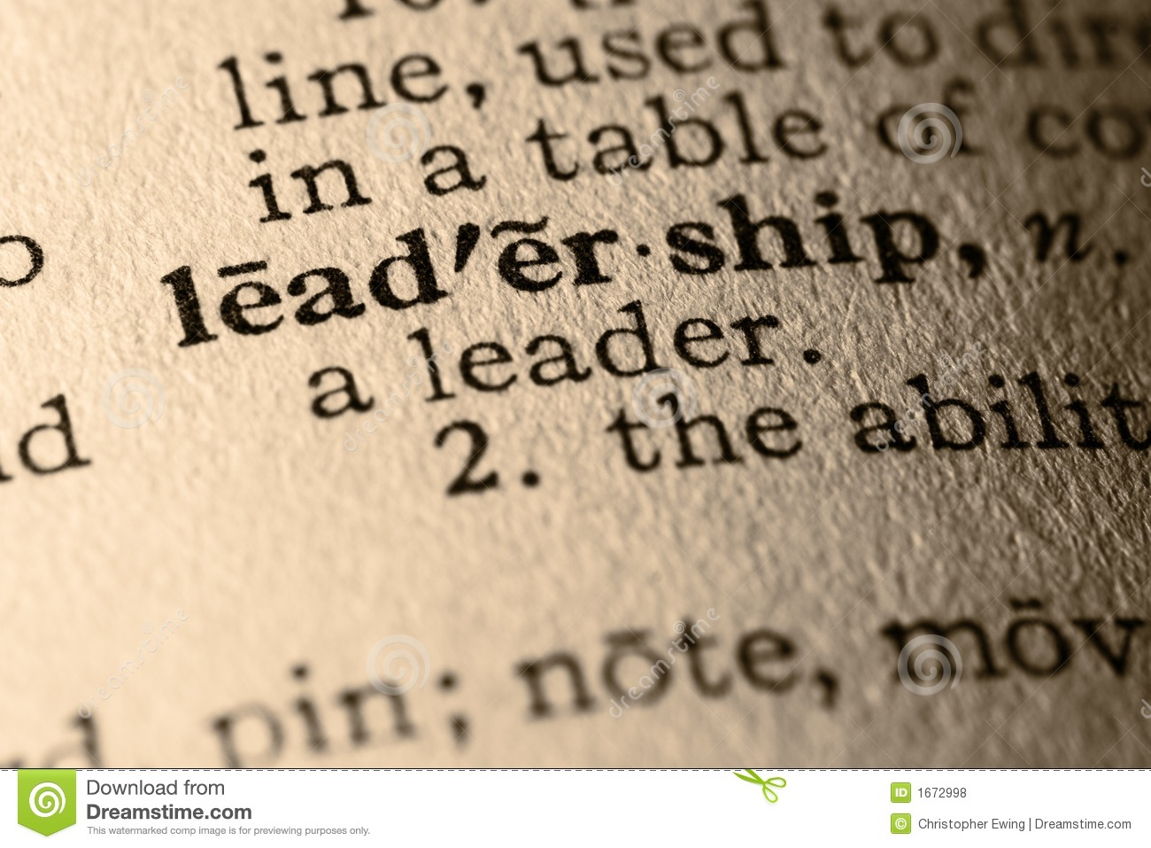 The Word Leadership Stock Photo Image Of Management Focus 1672998