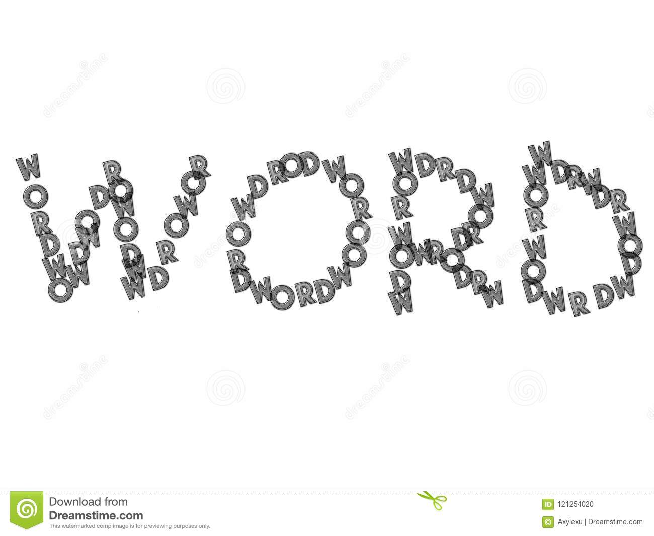 Word Letter Made By Words Letters Stock Illustration Illustration
