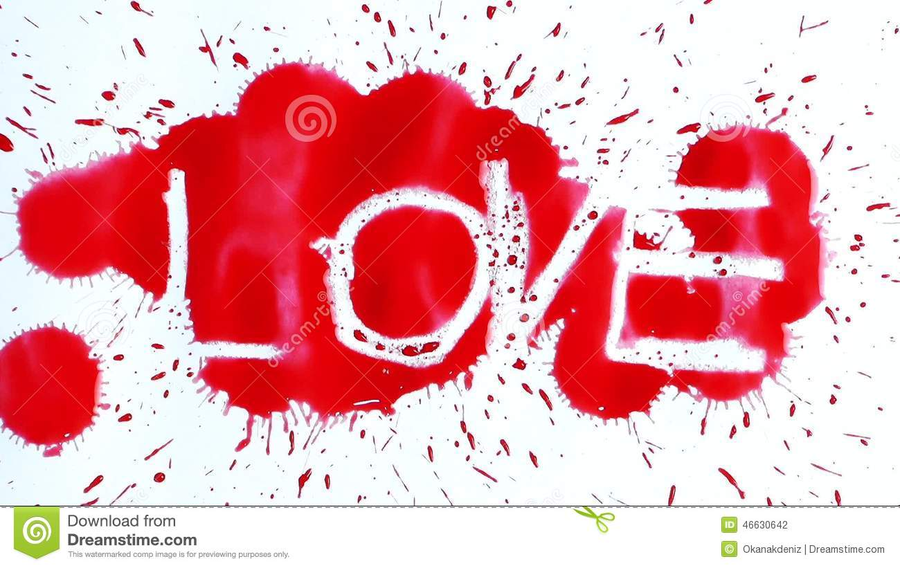 The Word Love Appears After Ink Drops Stock Footage Of Concept Business