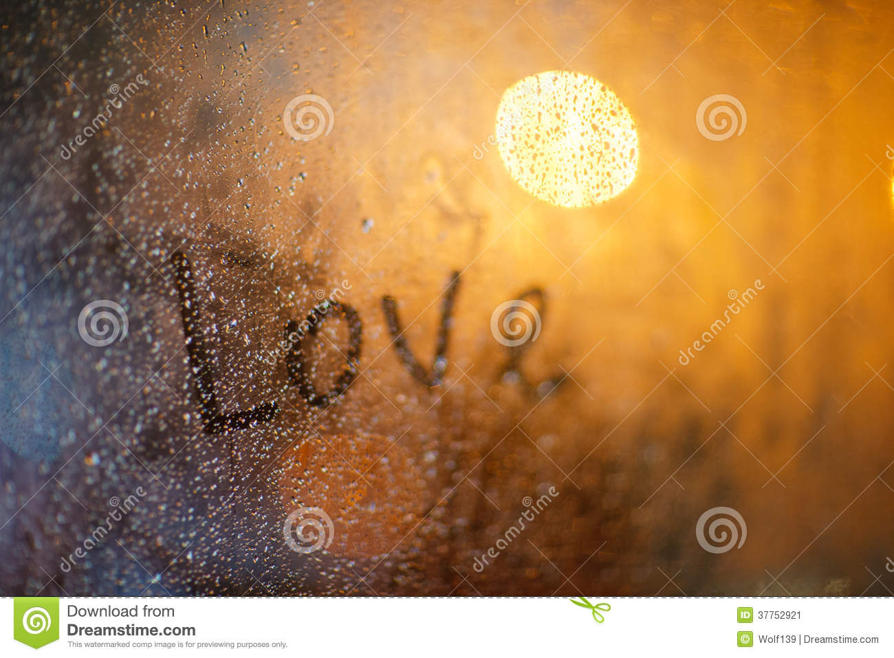 Download The Word Love On The Window In Rain Stock Image Image Of Droplets