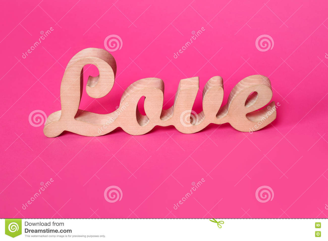 Wooden Letters Home Decor Word Love Wooden Letters On Pink Paper Valentine Amp X27 S
