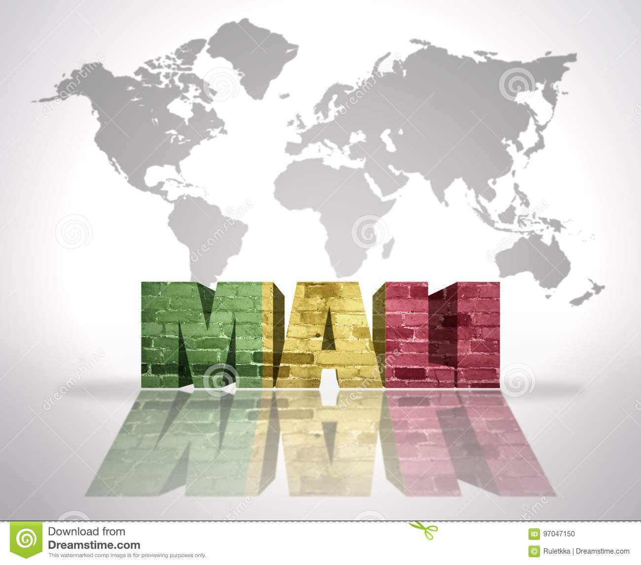 Download Word Mali On A World Map Background Stock Illustration    Illustration Of Patriotism, Illustration