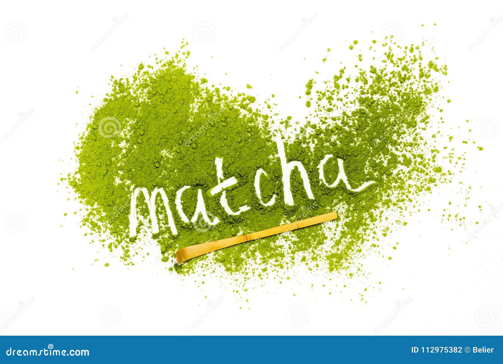 Word matcha made of powdered matcha green tea