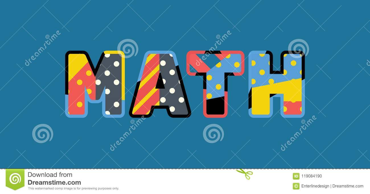 math concept word art illustration stock vector - illustration of