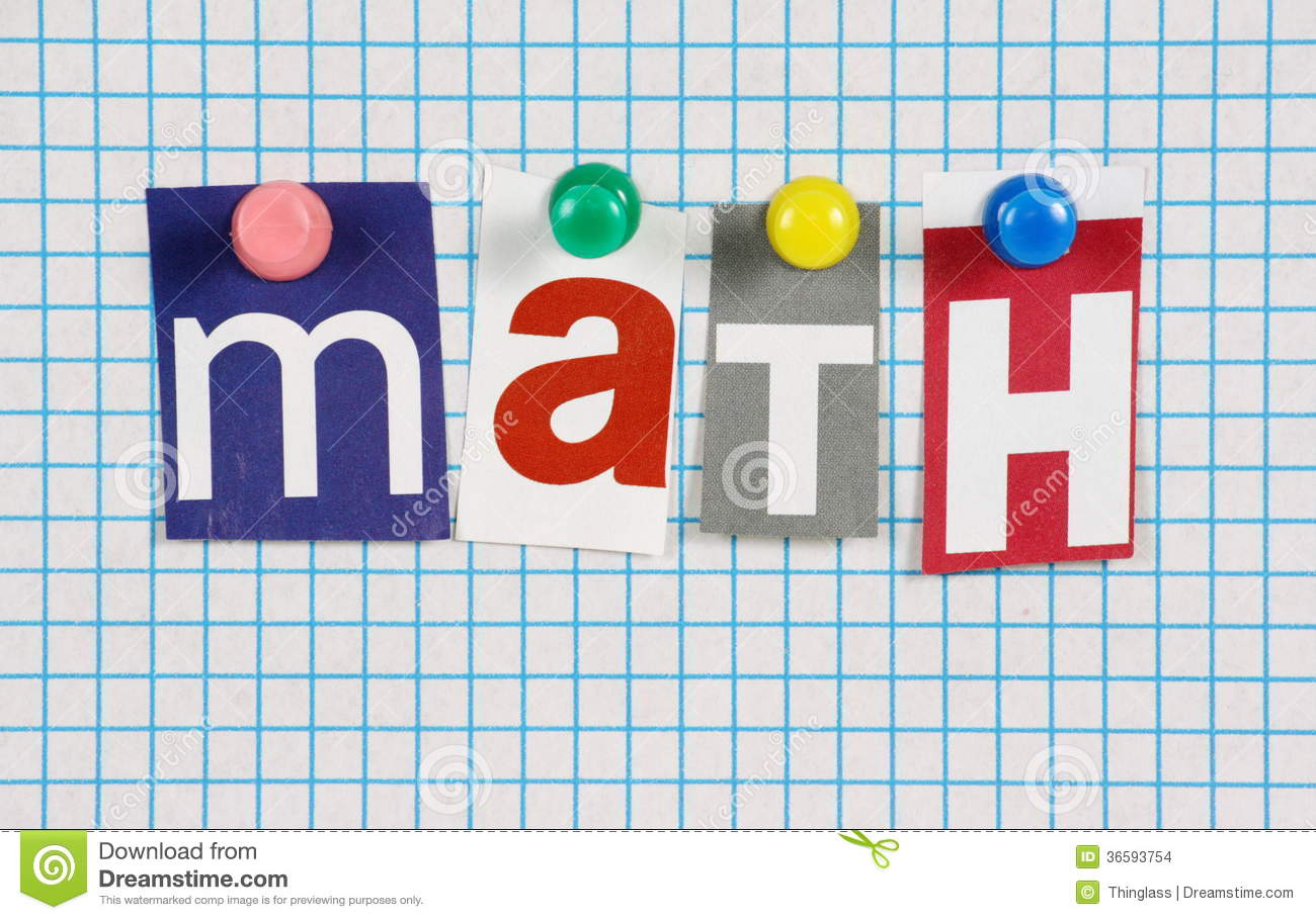 The Word Math Stock Images - Image: 36593754