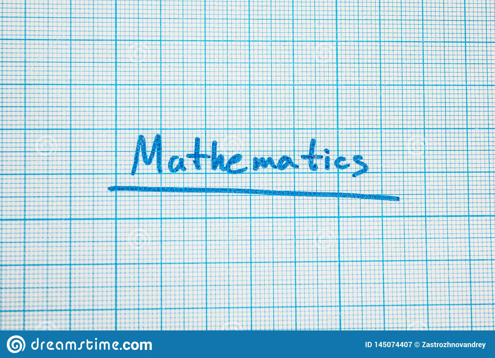 The word `mathematics` is close-up.