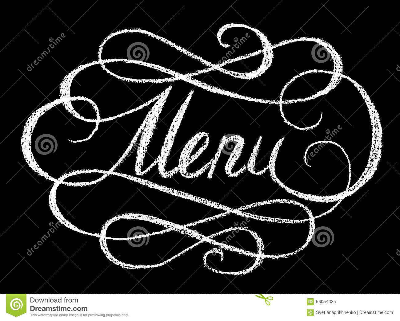 Word Menu Stock Vector - Image: 56054385