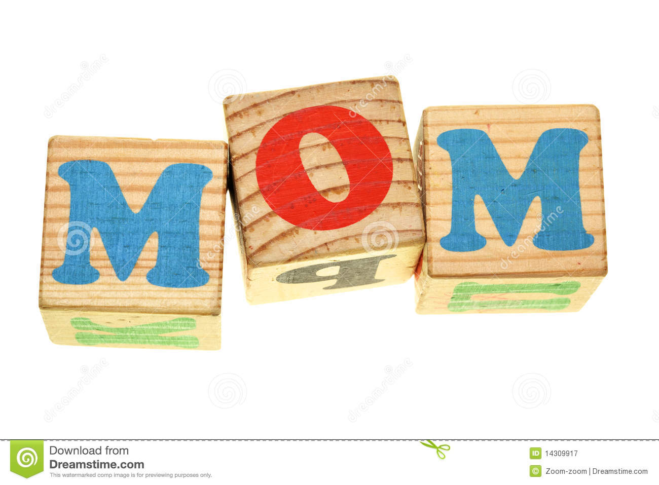 Word MOM Royalty Free Stock Photography - Image: 14309917