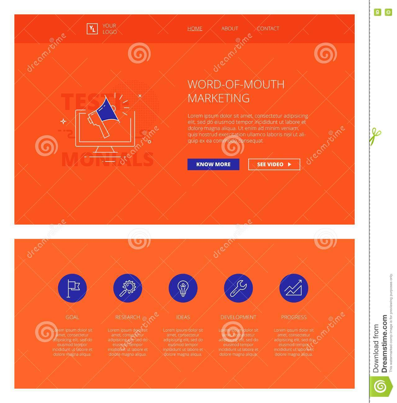 Wordofmouth Marketing Design Template For Websites And Stock - Word web page template