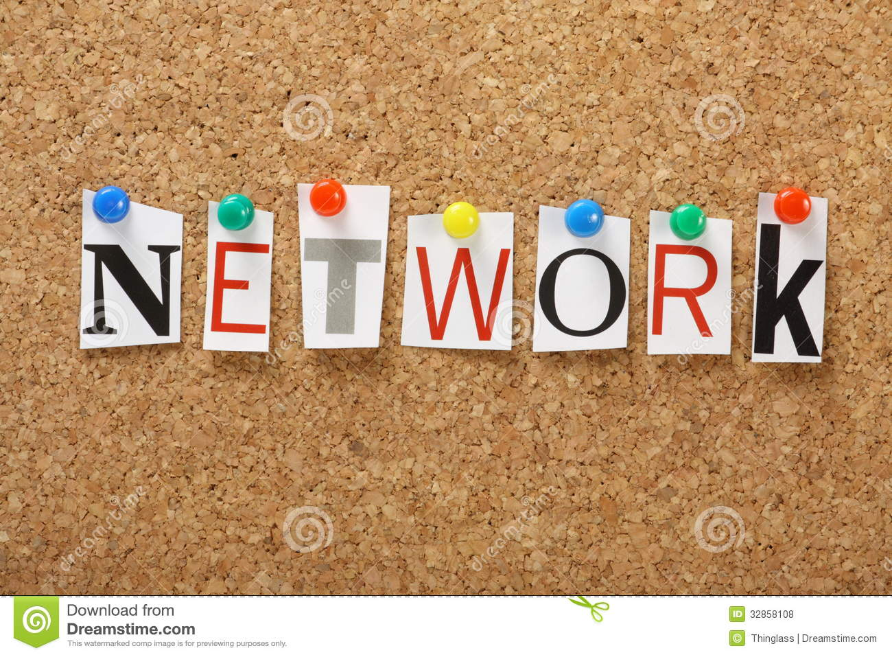 The Word Network Royalty Free Stock Photos - Image: 32858108