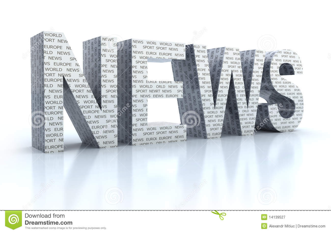 The Word News Over White Royalty Free Stock Photography - Image ...