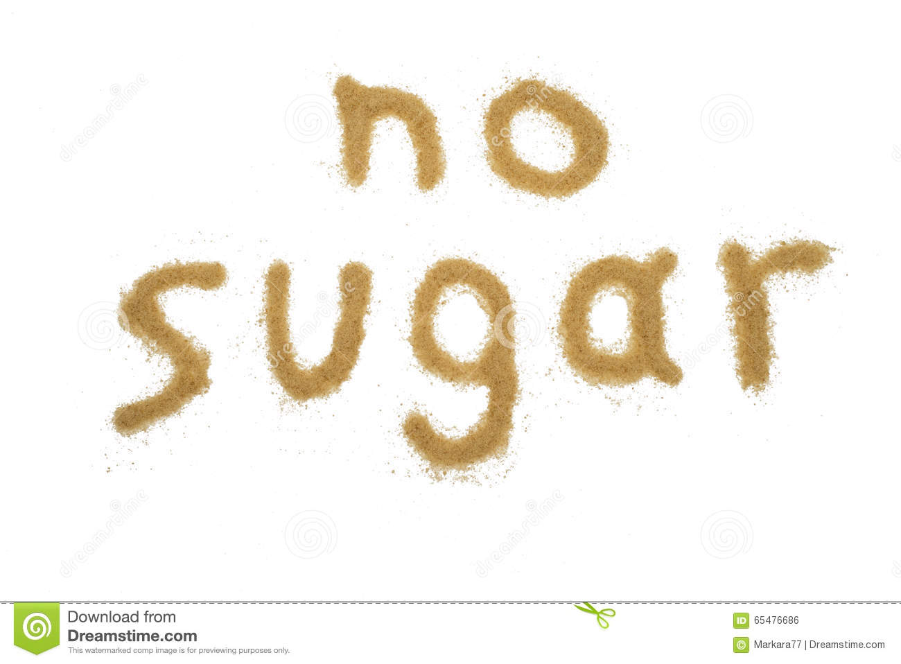 Word No Sugar Written With Brown Sugar Stock Photo Image Of