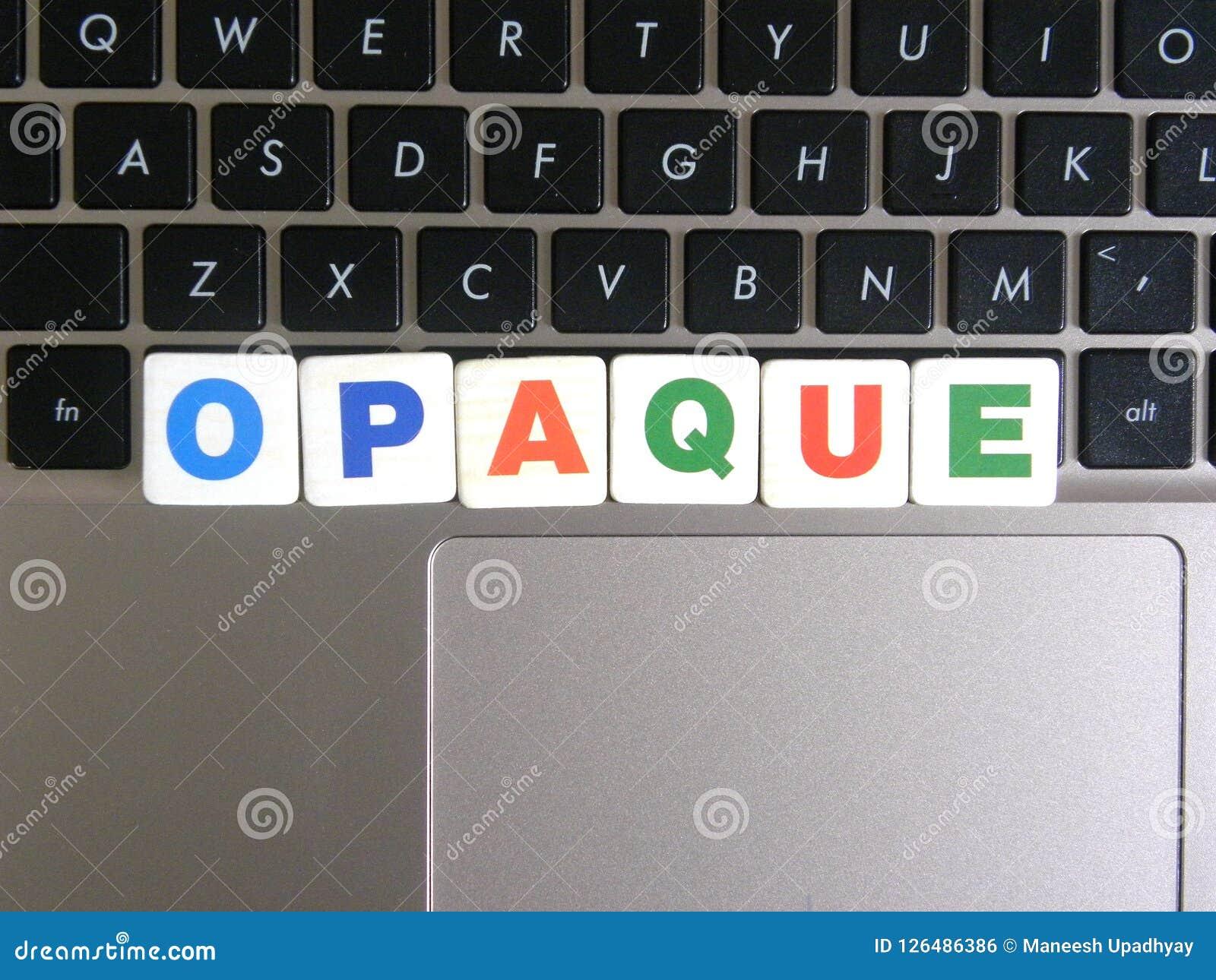 Word Ondoorzichtig op toetsenbordachtergrond