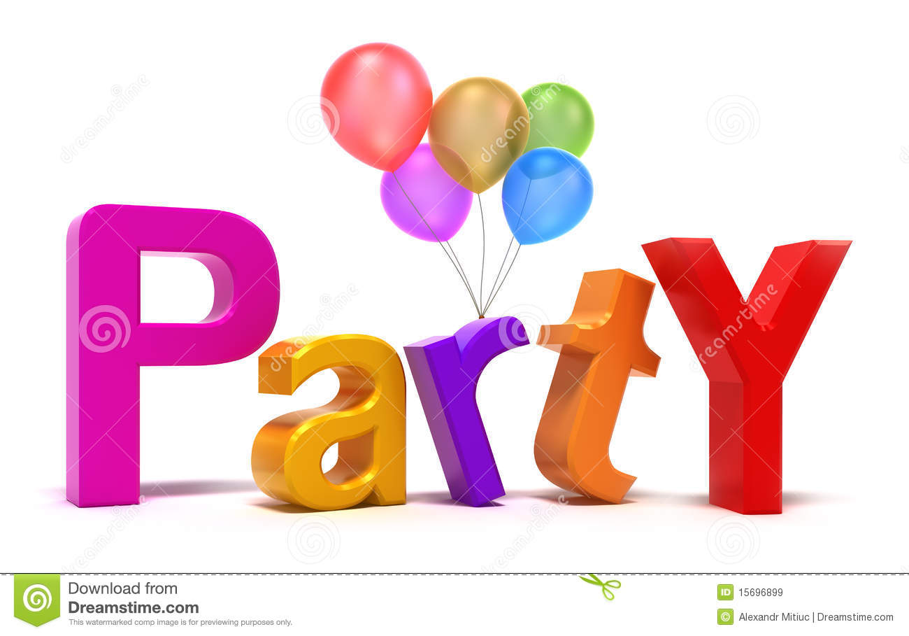 Word Party With Colourful Letters Stock Illustration ...