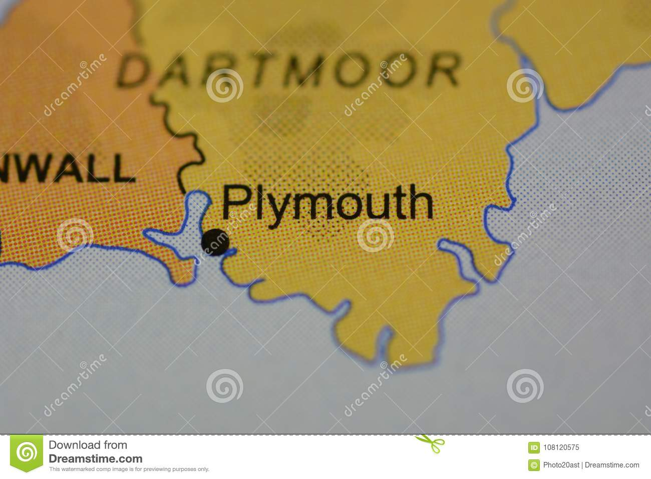The Word Plymouth On The Map Stock Illustration Illustration Of