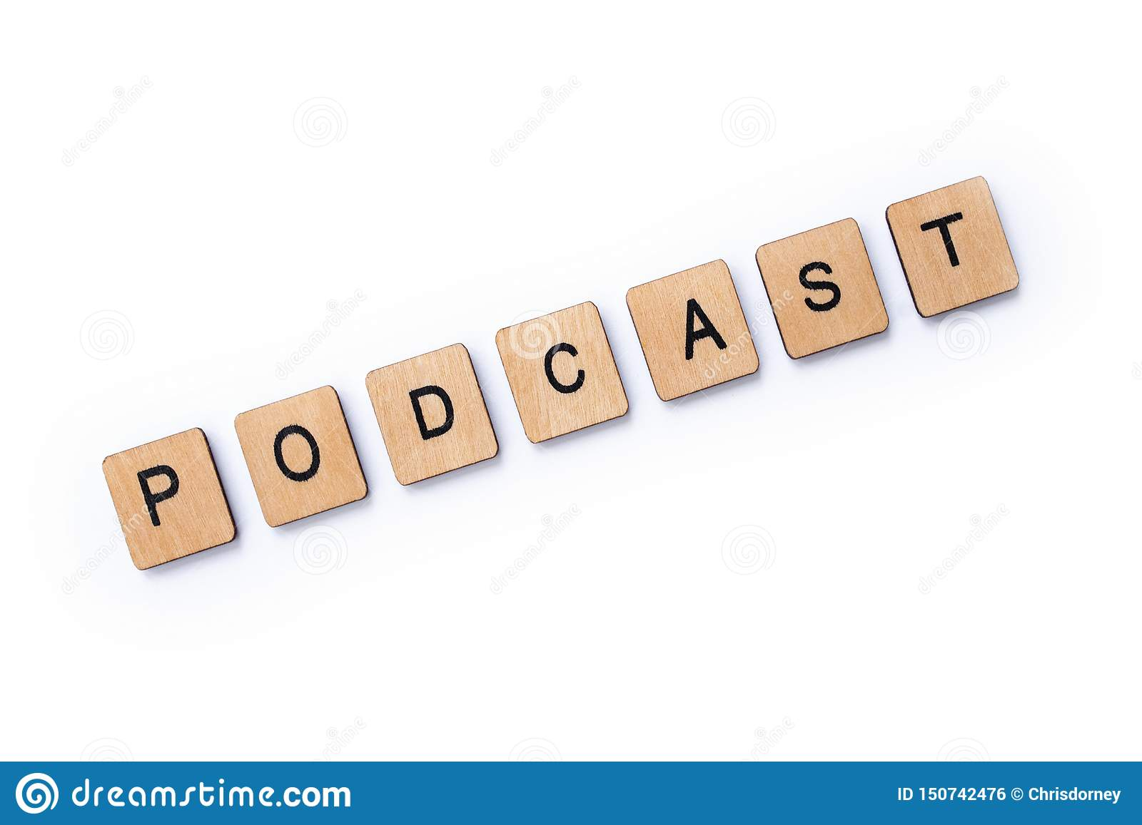 The word PODCAST