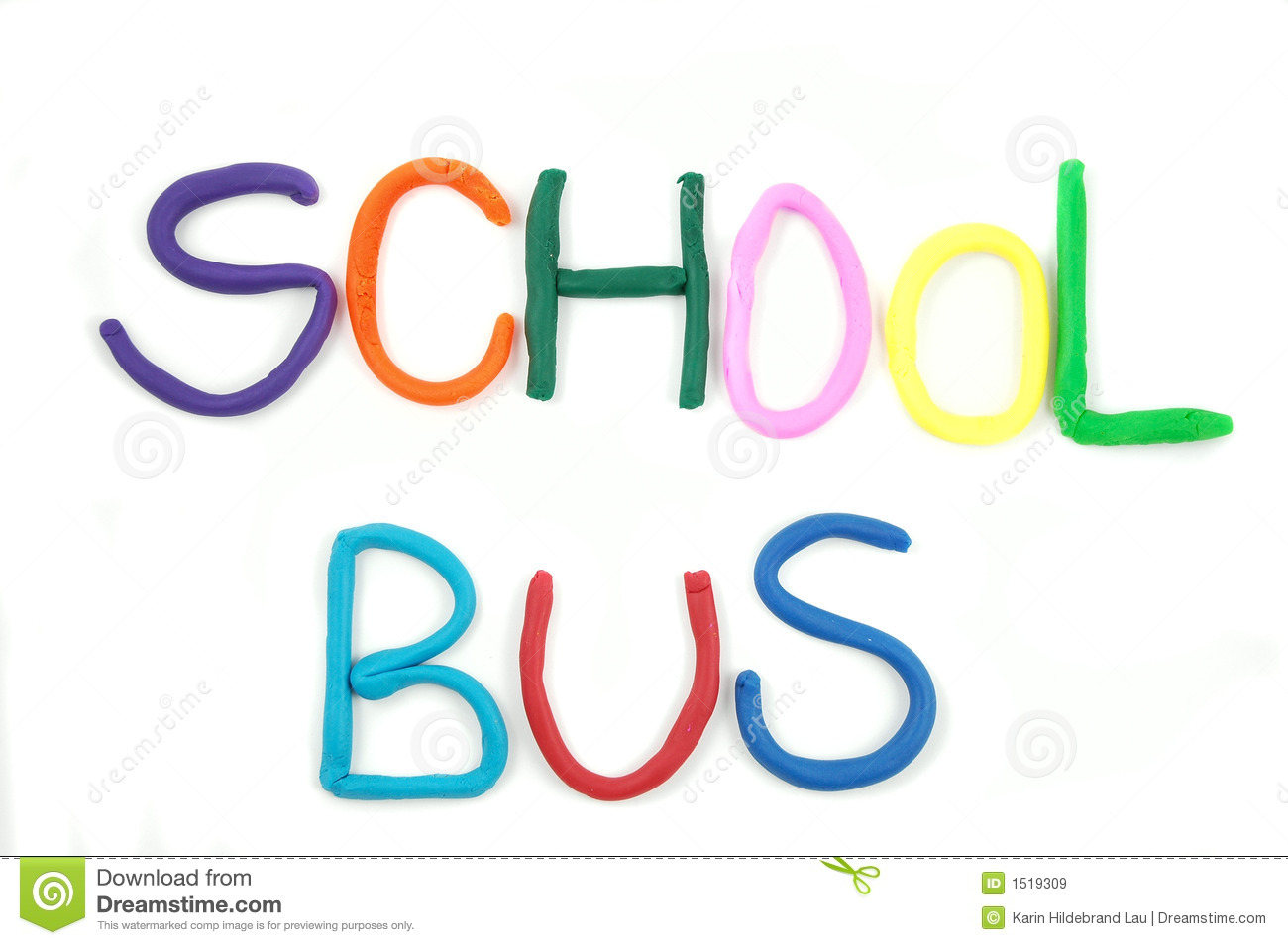 The Word SCHOOL BUS Royalty Free Stock Images - Image: 1519309