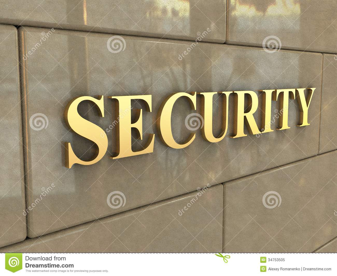 Word Security Royalty Free Stock Photo Image 34753505