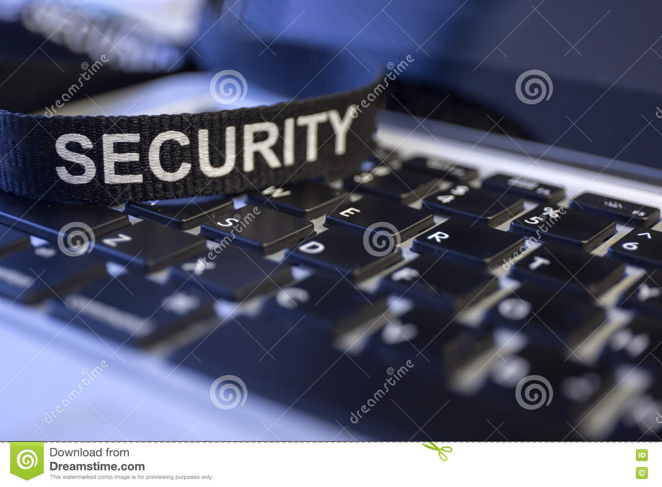 word security on labtop keyboard symbolized cyber crime protection