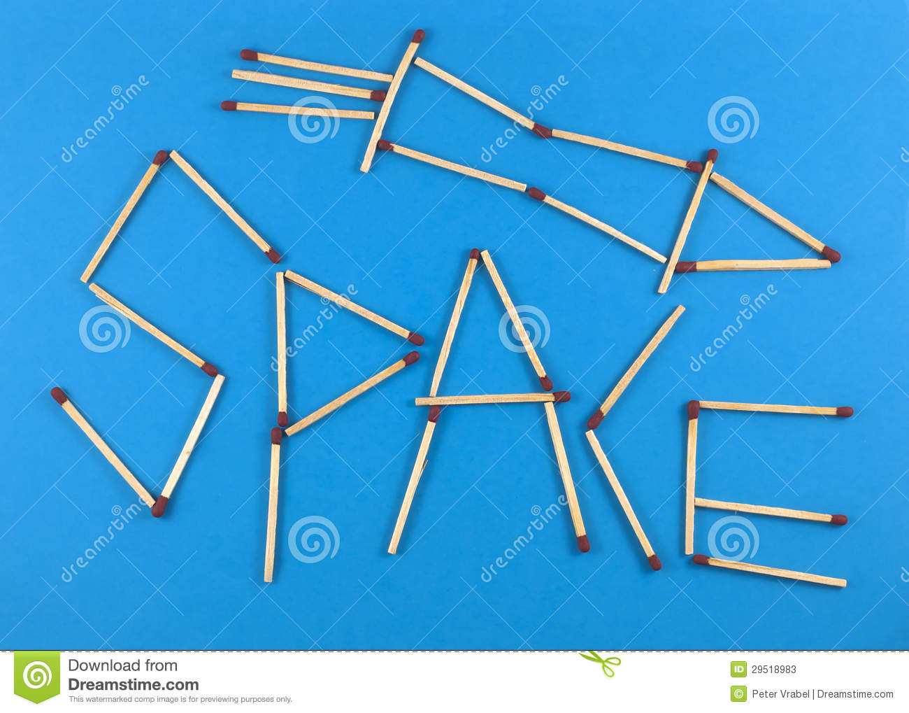 Word space made of matchsticks stock image image 29518983 for When was space made