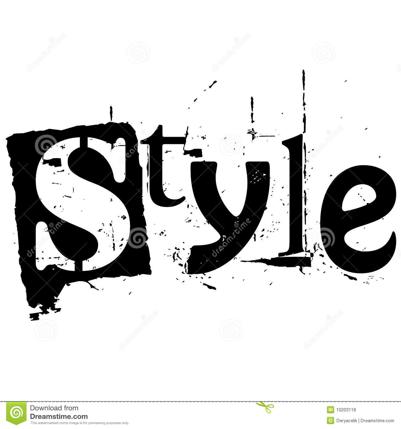 download the word style written in grunge cutout style stock vector illustration of cutout