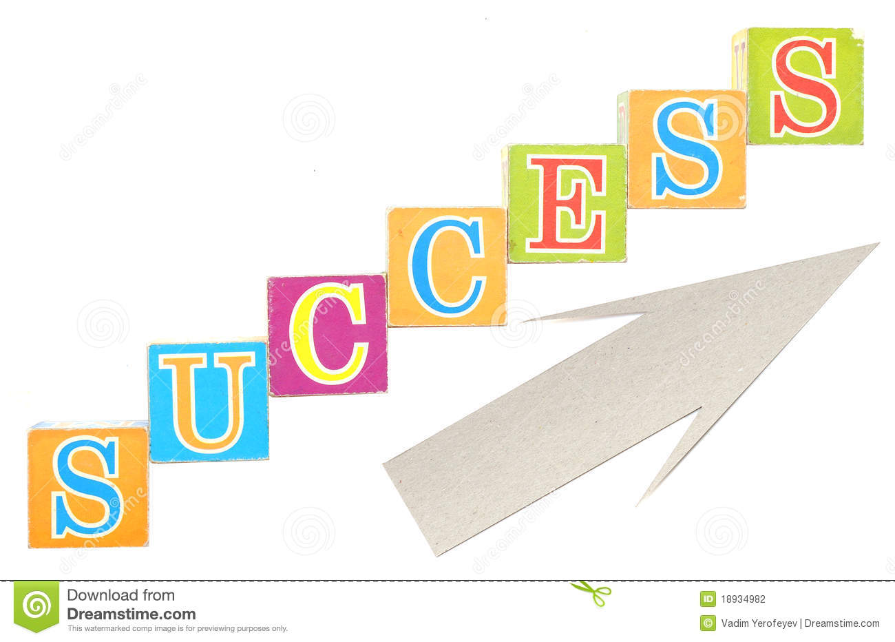 word success as a ladder stock photo  image of arrow